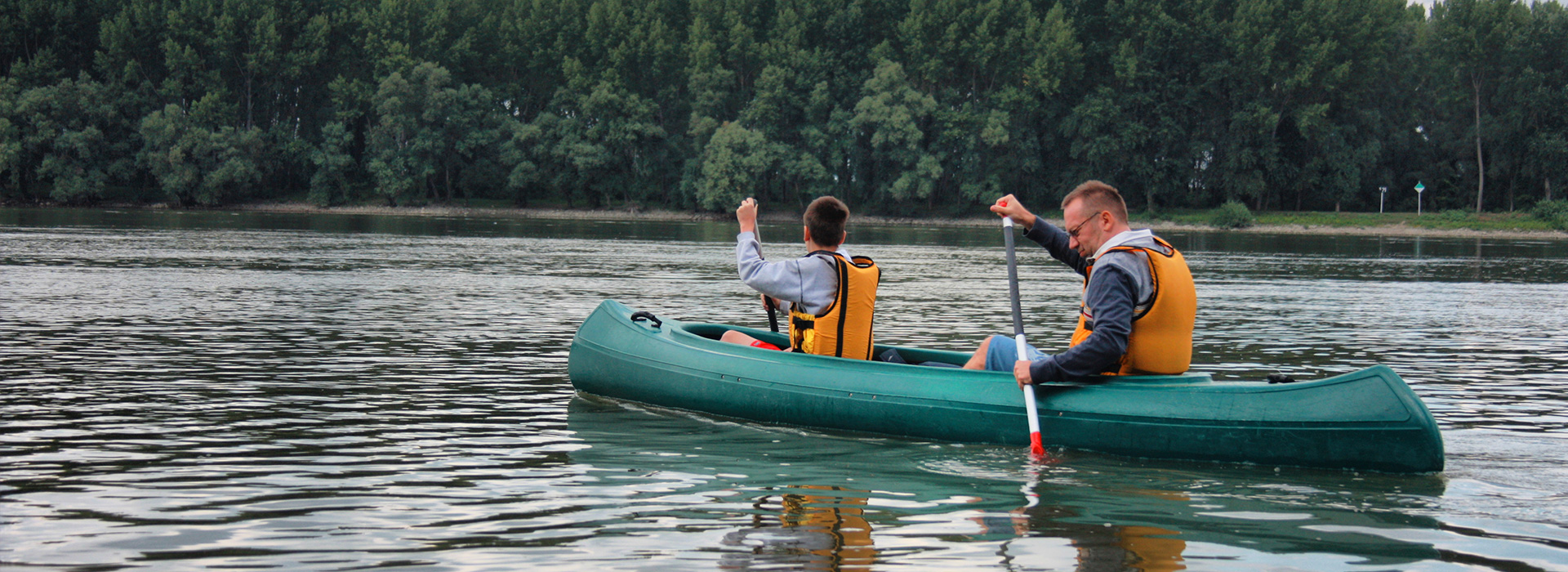Canoeing on the Danube